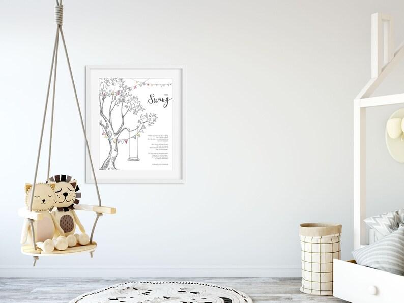 The Swing Illustration Poem By Robert Louis Stevenson