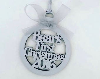 First Christmas baubles