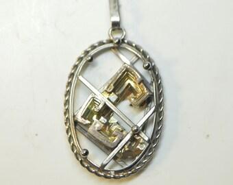 Bismuth Cluster Vintage Large Pendant