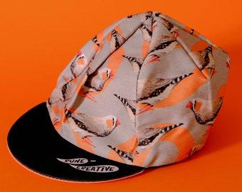 Zebra Finch Cycling Cap***IN STOCK***