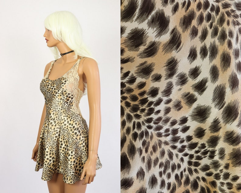 Victoria s Secret Animal Print Nightie 90s Lingerie 1990s  6efe5c7ac