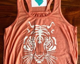 a6790ba2 Tiger Tank Top- Tiger - Tiger Shirt- Tiger Mascot- Custom Tank Top- Orange- Tank  Top