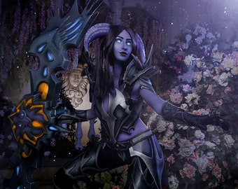 Draenei cosplay costume (full armor, black dragonscale mail) inspired by World of Warcraft