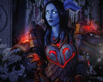 Draenei Horns For Cosplay Inspired By World Of Warcraft Etsy