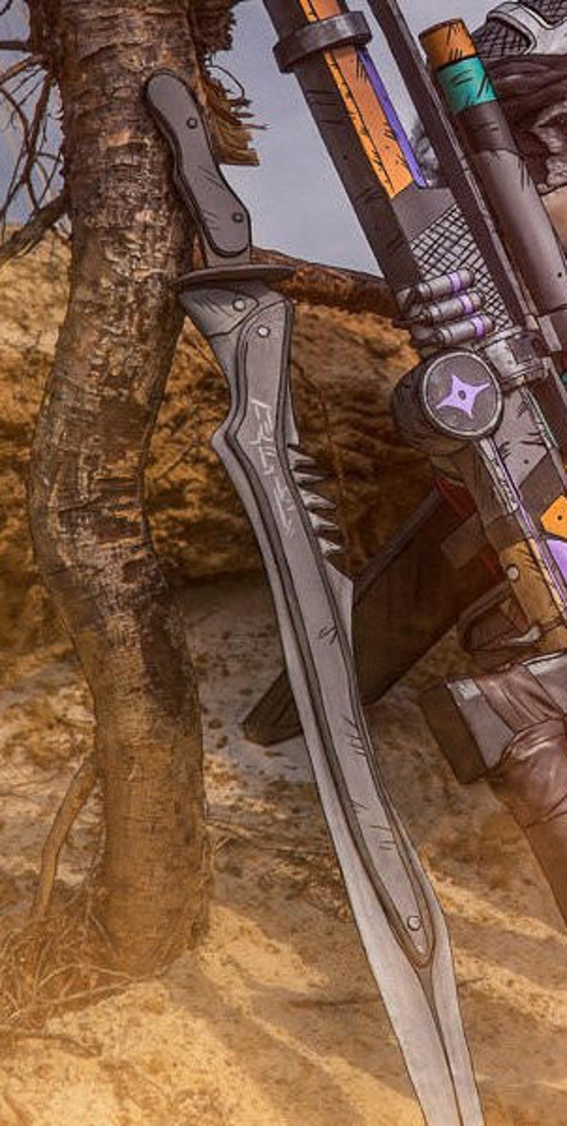 Borderlands 2 Mordecai's Sword (Sword and sheath)