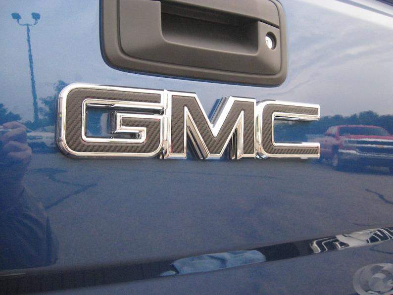 2014 15 16 17 GMC CANYON MATTE BLACK FRONT GRILLE DECAL EMBLEM OVERLAY DIY