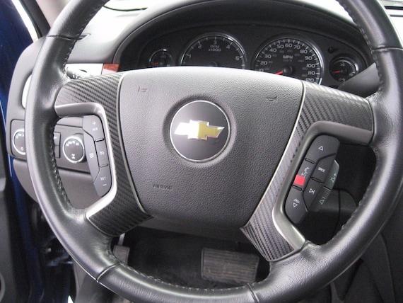 2007-2013 Chevy Silverado Tahoe Carbon Fiber Steering Wheel Spoke Overlay Decals