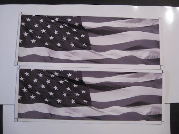2007 08 09 10 11 12 13 GMC SIERRA AMERICAN FLAG GRILLE DECAL EMBLEM OVERLAY