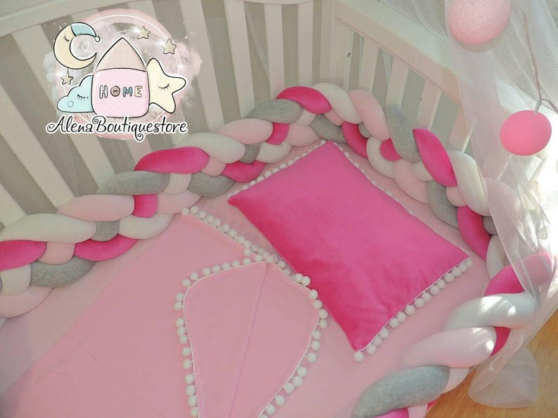 Double Braided Crib Bumper Nursery Beddingkids Room Decor