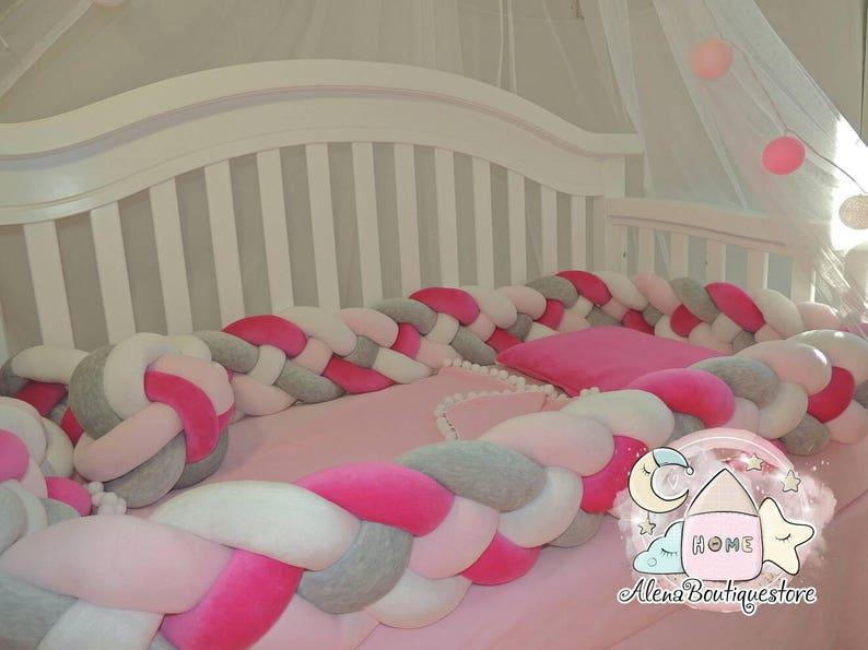 Double Braided Crib Bumper Nursery Beddingkids Room Decor