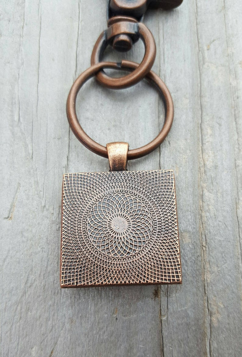 Butterfly charm Rustic Look Spiritual Gift Religious Key Ring Antique Copper Inspirational Gift Faith Key Chain Faith Jewelry