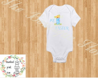 YOU PRINT-My 1st Easter Baby Boy iron on, My first Easter Decal