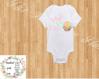 YOU PRINT-My 1st Easter Baby Girl iron on, My first Easter Decal