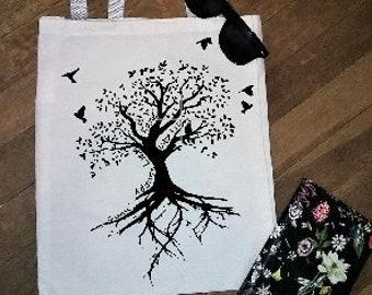 Canvas Tote Bag Family Tree Parents Tree Grandparents Tree Grandkids Customizable