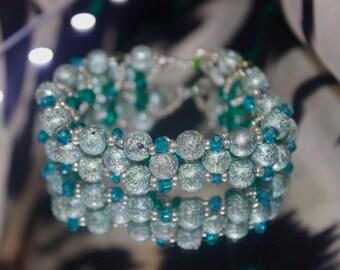 Bluestone and blue crystal bracelet