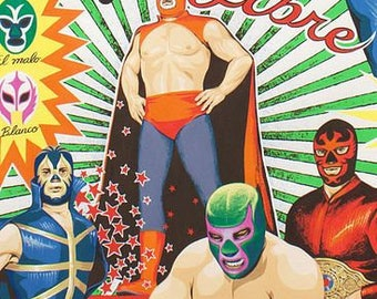 Lucha Libre. Alexander Henry Fabrics. Mexican fabric. Dress. Quilting. Patchwork