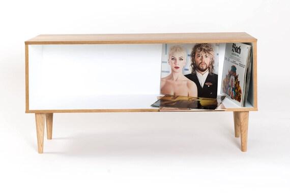Goede Tv-meubels draaitafel Scandinavische stijl eiken | Etsy WF-73