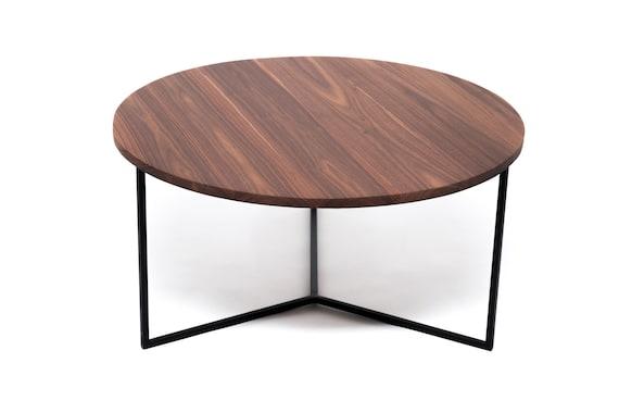 Mesa café, mesa nogal americano madera maciza, mesa comedor, hecha a mano