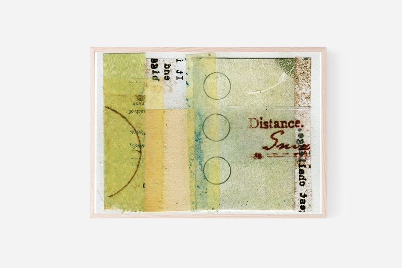 Collage Wall Art Mixed Media Typography Print Wall Art to image 0