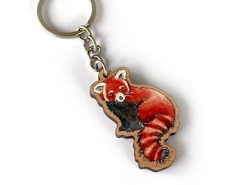Schlüsselanhänger aus Holz Roter Panda