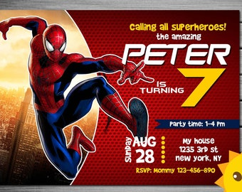 Spiderman invitation etsy spiderman invitation spiderman birthday invitation spiderman spiderman printable spiderman card spiderman invite party digital stopboris Choice Image