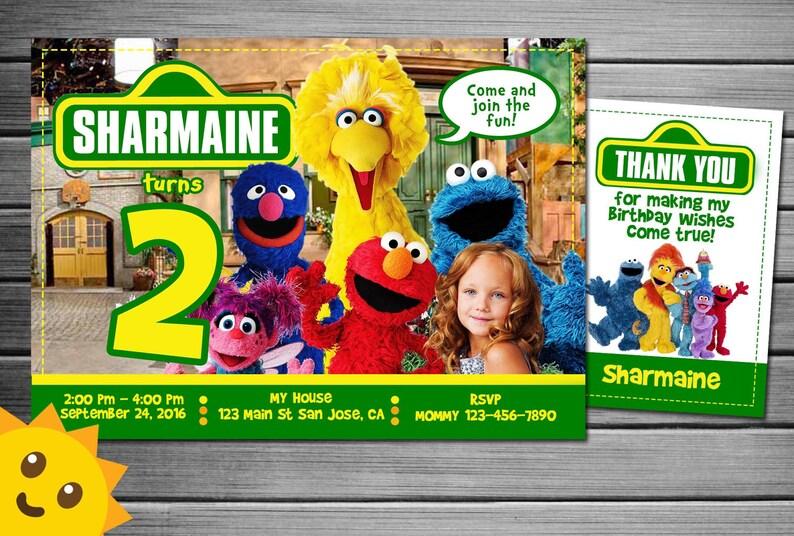 Sesame Street Invitation Elmo With