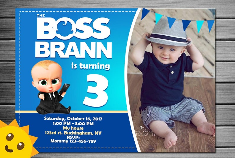 Boss Baby Invitation Birthday Party Invitations Free Thank You Card