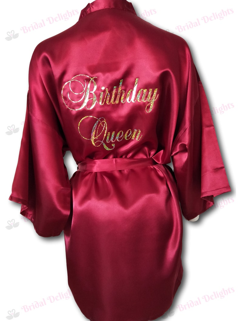 565d09f73a Satin Birthday Robe Birthday Queen