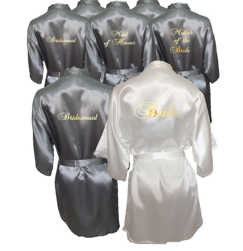 5570f7851530 Bridesmaid Robes Set of 7 Personalised Robes Bridesmaid
