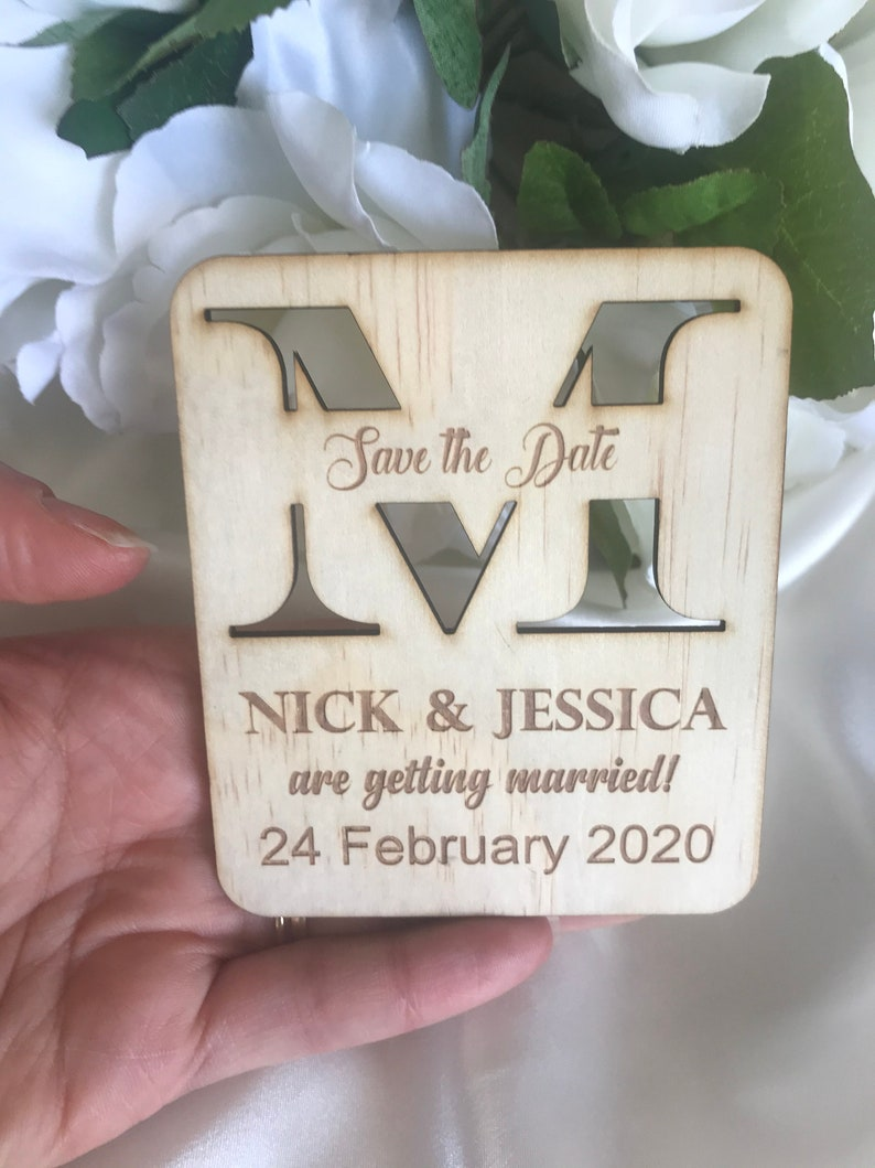 Getting Married Personalised Save The Date Fridge Magnet