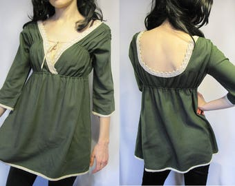 Exclusive light summer linen tunic ethnic style small size cosplay
