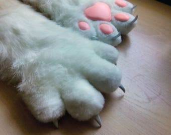 Cat gloves furry Fluffy cat's legs gloves cosplay party