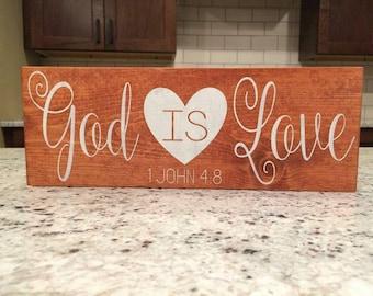 God is Love home decor board