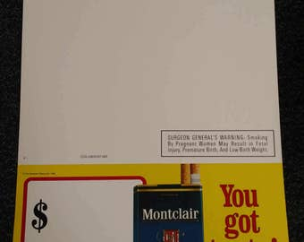 Montclair Cigarettes Advertising Piece/Shelf Dangler