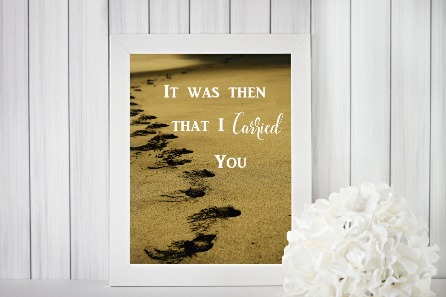 B2G1 Footprints in the Sand Inspirational Minimalist | Etsy