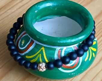 Moroccan Tribal Black Bracelet