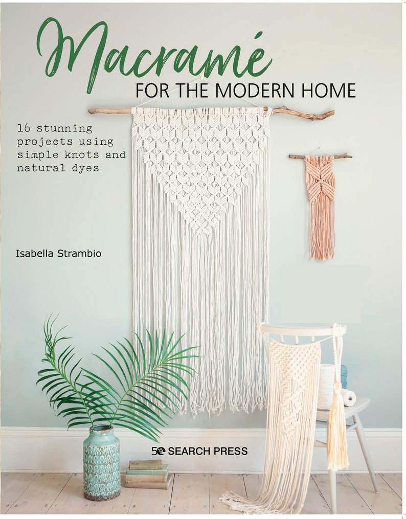 Macrame for the modern home book signed copy image 1