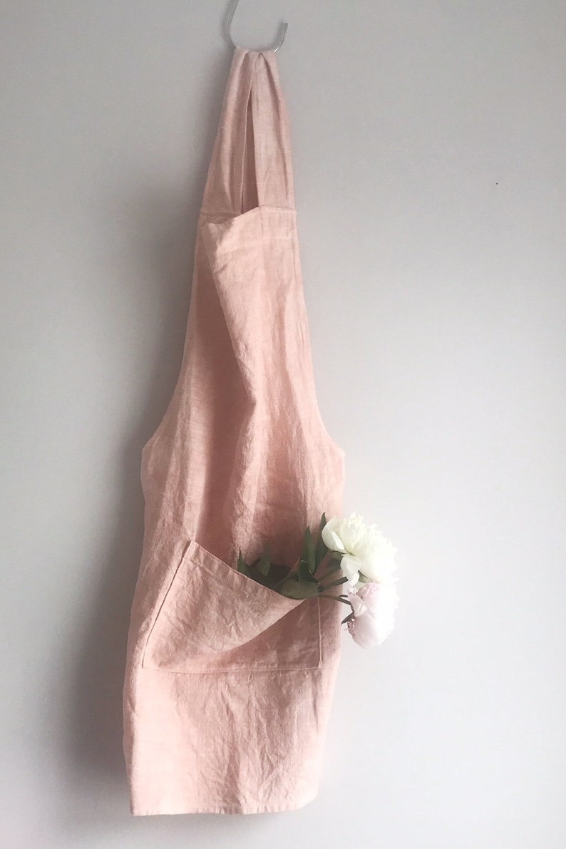Beautiful and useful, this hand-dyed linen Japanese apron with cross back is handmade in the UK by TWOMEshop. Come discover Handmade Decor & One of a Kind Finds from Etsy Award Finalists: Hello, Lovely Makers!