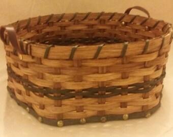 Amish Large Snowflake (hexagonal) basket