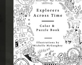 Explorers Across Time Coloring Book
