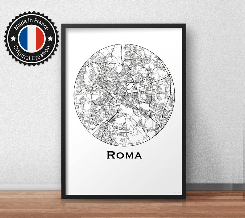 18bc85feb Poster Roma Italy Minimalist Map City Map Street Map