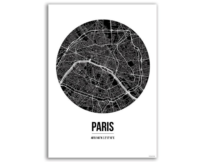 Poster Paris France Street Map  City Map image 0