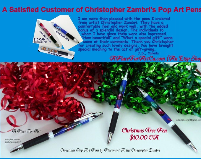 Christmas Pop Art Pens Are Perfect Stocking Stuffers!