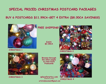 Christmas Pop Art Postcards Are Easy To Send Or Give As A Gift!