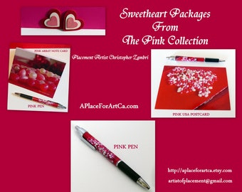 February Sweetheart Packages From The Pop Art Stationery Pink Collection