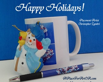 Happy Holidays To Those Who Love Pop Art On Note Cards, Postcards, Posters, Pens, Tote Bags, Jigsaw Puzzles, Mugs, Mousepads