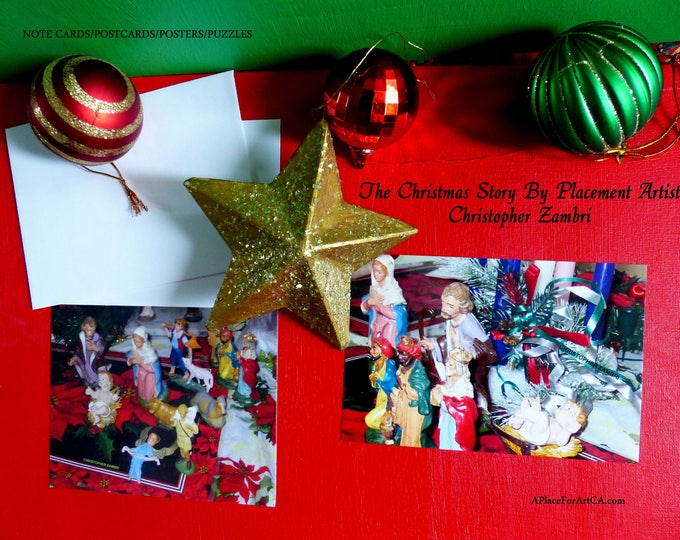 The Christmas Story In 4 Versions Created by Placement Artist Christopher Zambri in Note Cards, Postcards, Posters, Puzzles