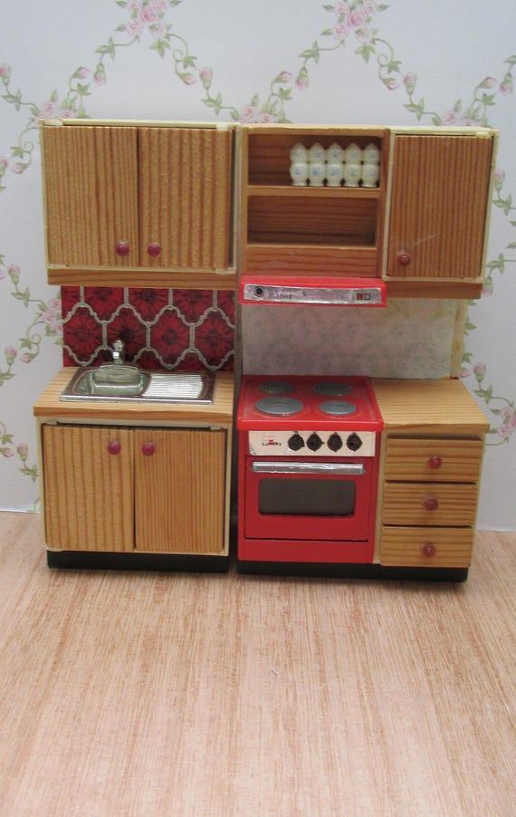 Four, évier et meubles de cuisine vintage Lundby Manor ...