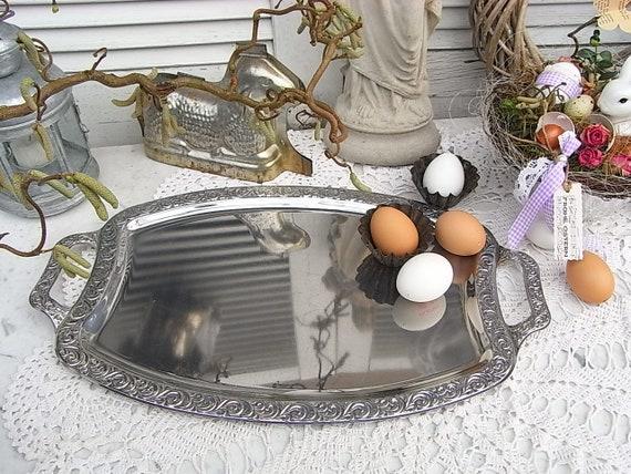 Tablett Edelstahl Serviertablett Käsetablett Wurstplatte Platte Servierplatte