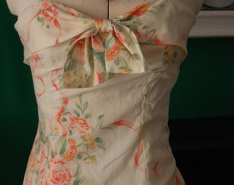 1980s strapless dress size 8